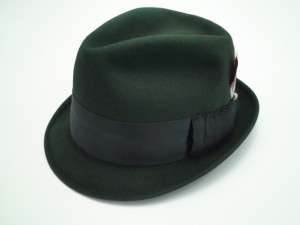 Adam Hats Green Trilby Fedora